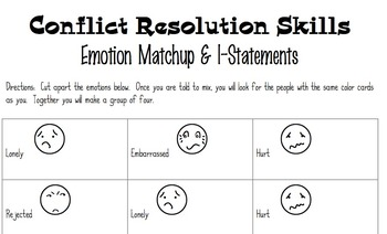 Conflict Resolution Game, Using I-Statements