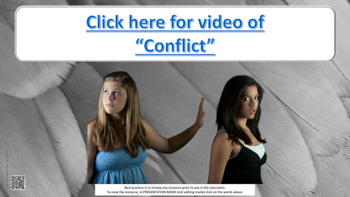 """Conflict Resolution Lesson """"A Turkey for Thanksgiving"""" w 5 videos & 7 role plays"""