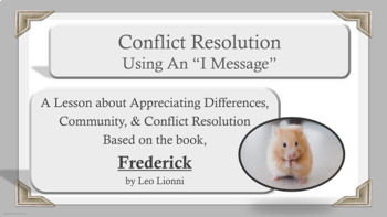 """Frederick"" lesson Self-Esteem Conflict Resolution Community PBIS Character Ed"