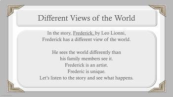 """Frederick"" lesson Self-Esteem Conflict Resolution Community PBIS Character Ed"