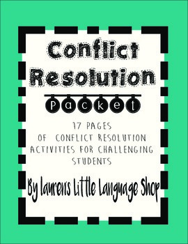 Conflict Resolution Packet