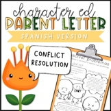 Conflict Resolution Parent Letter - SPANISH