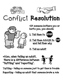 Conflict Resolution Poster - English & Spanish