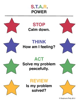 Conflict Resolution Poster - S.T.A.R Power
