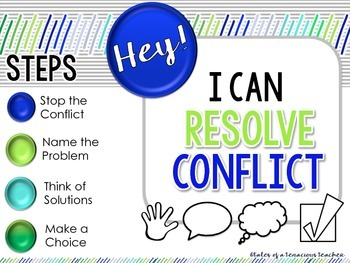 Conflict Resolution Posters: Ocean Colors