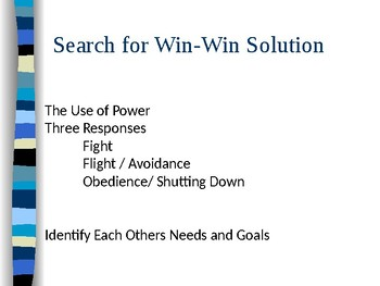 Conflict Resolution Power Point for older students