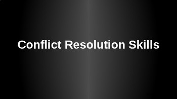 Conflict Resolution PowerPoint Lesson