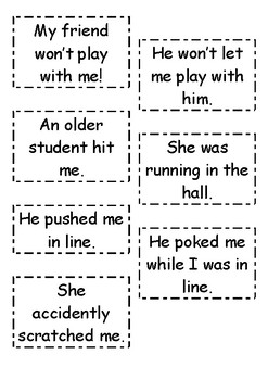 Conflict Resolution Role-Play Cards