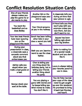 Conflict Resolution Situation Cards