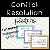 Conflict Resolution Posters - can be customized!