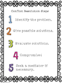 Conflict Resolution Steps Poster - FREE