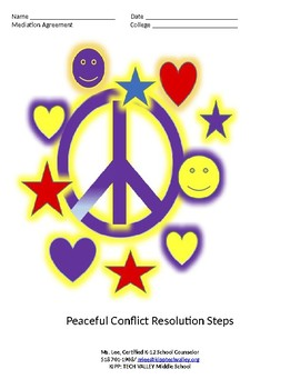 Conflict Resolution Steps: School Counseling