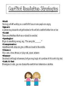 Conflict Resolution Strategies Printable