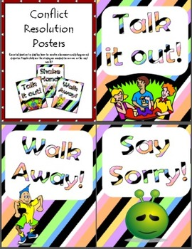 Classroom Management - 'Conflict Resolution' Strategy posters