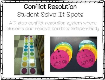 Restorative Practice: Conflict Resolution - Student Solve It Spots