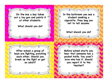 Conflict Resolution Task Cards Grades 4-6