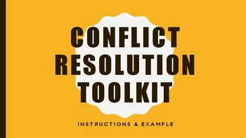 Conflict Resolution Toolkit