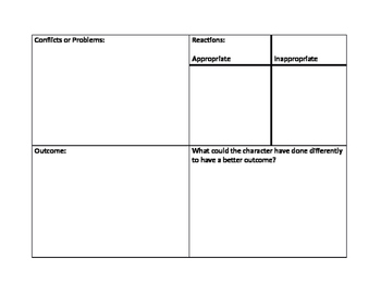 Conflict Resolution Worksheet for Books/Movies