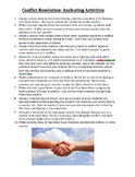 Conflict Resolution: Anchoring Activities