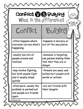Conflict Resolution and Bullying {Poster and Activity Pack}