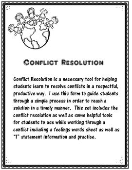 Conflict Resolution for Elementary Students