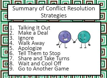Conflict Resolution for Middle School Students