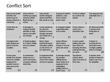 Conflict Sort Board
