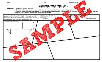 Conflict Strategies- Cartoon Comic Conflict Solutions