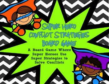 Conflict Strategies- Super Heroes Conflict Strategies Board Game