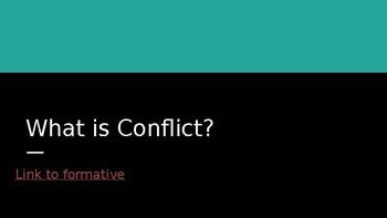 Conflict Study/Sophia's War Novel Study