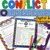 Conflict Superhero workbook; mediation strategies; peer mediators; counselors