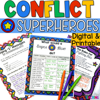 Conflict Superhero workbook; mediation strategies; peer me