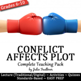 Conflict Affects Plot Lesson, Complete Teaching Pack with Task Cards