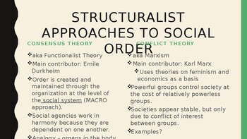 Conflict Theory and Consensus Theory PowerPoint