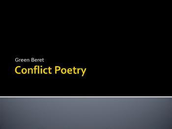 Conflict / War Poetry Resources