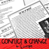 Conflict and Change in Europe Reading Activities (SS6H3, S