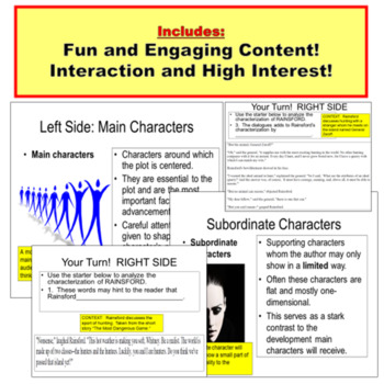Conflict and Characterization JUMBO PowerPoint
