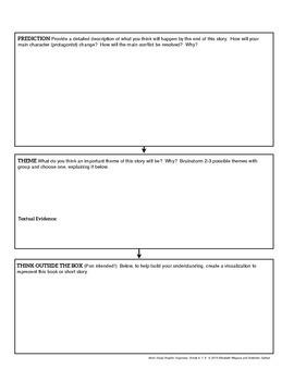 Fiction Study Graphic Organizer | Common Core Reading | Grades 6-8