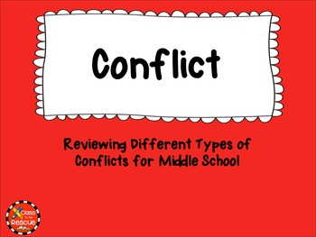 Conflict and Resolution Graphic Organizers and Flash Card Bundle