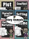 Story Elements in 5 Days:  BUNDLED Lessons to Teach Fiction Story Elements