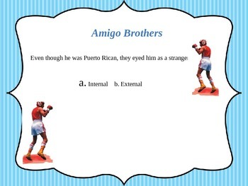 "Conflict and Vocabulary in ""Amigo Brothers"""