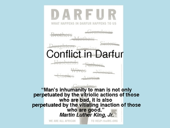 Conflict in Darfur Powerpoint