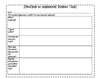 Conflict in Historical Fiction Text FREEBIE