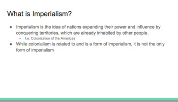 Conflict in the Modern Era Presentation/Notes