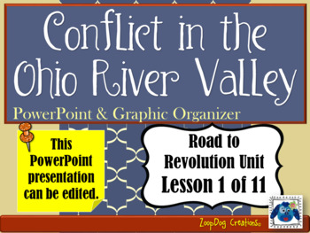Conflict in the Ohio River Valley PowerPoint and Graphic Organizer