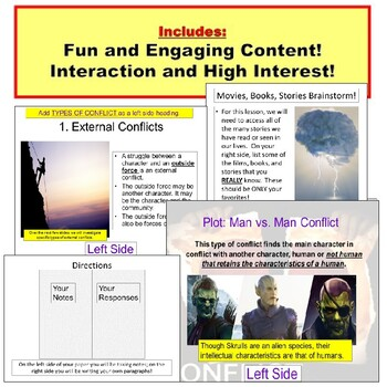 Conflict: internal, External Lesson Plan PowerPoint