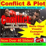 Conflict and Plot: Lesson Plan PowerPoint, Google Slides