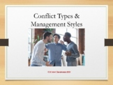 Conflict types and Management Styles