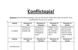 Conflictopia! (Conflict activity with settings)