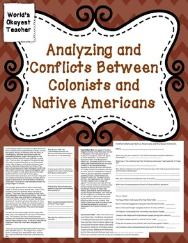 Conflicts Between Colonists and Native Americans